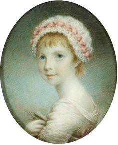 """Princess Sophia Matilda of Gloucester"", Samuel Shelley, 1799; Royal Portrait Gallery RCIN 420916"