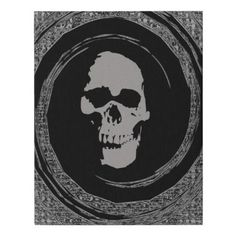 skull in the whirl faux canvas print - Halloween happyhalloween festival party holiday