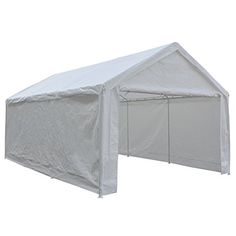 Abba Patio 12 x 20 Feet Heavy Duty Carport Portable Garage Tent Car Canopy Boat Shelter for Party, Wedding, Garden Storage Shed with Removable Sidewalls, 8 Legs,White Car Canopy, Carport Canopy, Car Shelter, Canopy Shelter, Tent Storage, Outdoor Storage, Portable Carport, Carport Kits