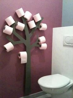 Problem solved! DIY Toilet paper holder