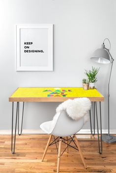 Nick Nelson Make My Day Desk | DENY Designs Home Accessories