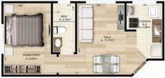 Um-quarto-com-planta-de-casa.jpg 327×154 pixeles #cocinaspequeñasdepartamento