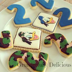Donald Duck decorated cookies by Grunderfully Delicious. Find me on Facebook!!
