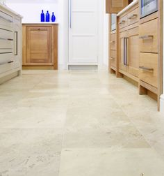 Glacier Limestone in a honed finish. These limestone kitchen tiles look great in contemporary settings.