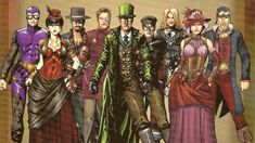 Legenderry by Bill Willingham & Sergio Dávila. Sergio Davila, League Of Extraordinary Gentlemen, Steampunk, Flash Gordon, Gentleman, Character Design, Illustration Art, Joker, Princess Zelda
