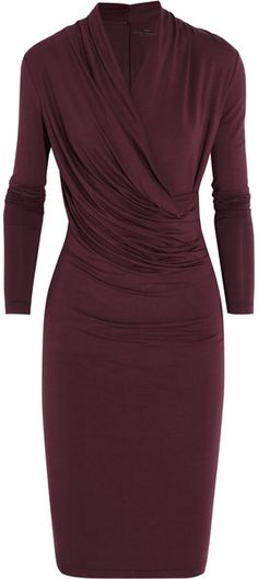 Gorgeous Wrap-effect Stretch-jersey Dress - DAYBIRGERMIKKELSON, I'm all for looking sexy and being halfway warm