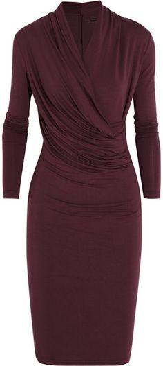 Original Pin: Wrap-effect Stretch-jersey Dress - DAYBIRGERMIKKELSON