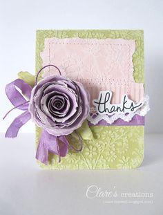 Core'dinations Torn Spiral Flower - #spiralflower, #core'dinations, #torncardstock, #paperflower.