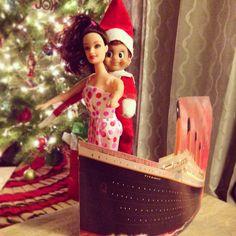Adult Elf on the Shelf - Titanic - I'll never let go, Jack!