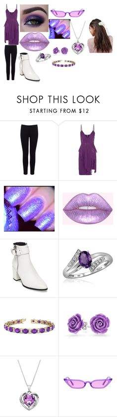 """""""Amethyst (Steven Universe) 'going out'"""" by mitsuki-snake-ninja on Polyvore featuring Warehouse, La Perla, Steve Madden, Jewelonfire, Allurez, Bling Jewelry and ASOS"""