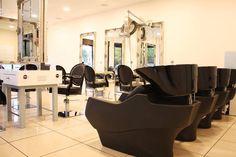 Royal styling chairs/ Technology washing units. Salon Ideas from Ayala salon furniture. Classic salon design.