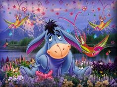 I love Eeyore. He is my favorite Winnie the Pooh character. Eeyore Quotes, Winnie The Pooh Quotes, Disney Winnie The Pooh, Pooh Bear, Tigger, Eeyore Pictures, Cute Bibles, Cross Paintings, Disney Art