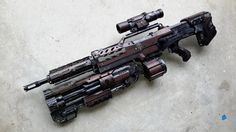 A stock nerf longshot combined with a vagabond to by AlTheGeek