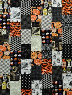 Halloween Quilt - Simple Logs Halloween Lap Quilt