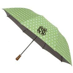 Monogramed umbrella :)