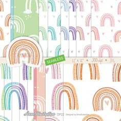 Rainbow digital  papersSeamlessNerseryRainbow   Etsy Rainbow Background, Paper Background, Background Patterns, Coffee Clipart, Clipart Boy, Travel Clipart, Simple Collage, Us Images, Collage Sheet