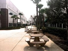 Concrete picnic tables are a smart choice for areas where there is the potential for high winds, hurricanes, tornadoes or floods.
