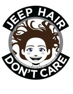 Jeep Hair Don't Care! 4-inch round vinyl sticker. Gray. $4. #Jeep