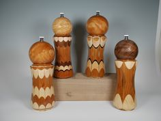 Peppermill Pepper Grinder Spalted Maple Pepper Mill finished with high Gloss Polyurethane. Pepper Mill