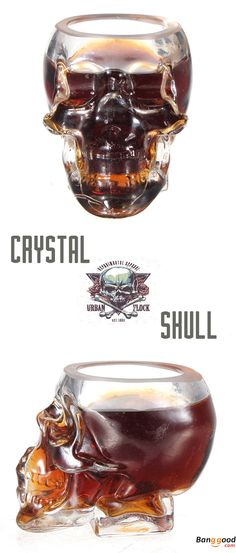 This skull head crystal glass cup is awsome! Only US$6.62 + Free shipping. Shop more funny items with low prices at banggood.