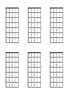 Mandolin, Chord Charts, Fretboard Diagrams, Blank, Music