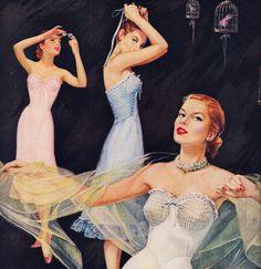 Mojud Year Rounder Slip lingerie advertisement, 1954.