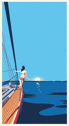 graphic/illustration poster  travel