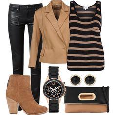 Blazer, jeans, stripes #outfit ideas