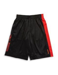 Reebok Boys 8-20 Graphic Athletic Shorts  Black Large