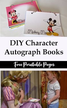 DIY Disney Autograph Book and Printables : If you are headed to Disney, make sure to print out these free DIY Character Autograph Books for your kids from toddlers to high schoolers will love them Walt Disney, Disney Tips, Disney Ideas, Disney Family, Disney Cruise, Disney World Vacation, Disney Vacations, Disney Travel, Disneyland Trip