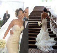 Romantic Mermaid Lace Wedding Dresses Beach Spaghetti Straps Tulle Sweep Train Applique Sheath Bridal Gowns Backless Wedding Dress 2015 Simple Lace Wedding Dresses The Best Wedding Dresses From Weddingplanning, $141.33| Dhgate.Com