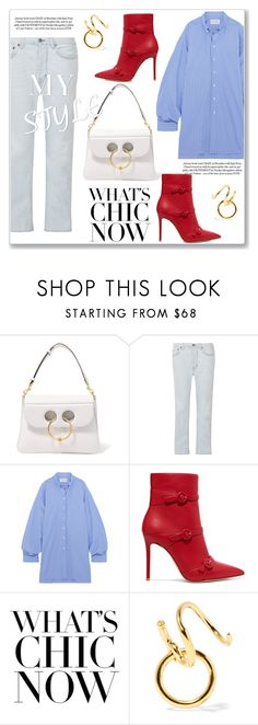 """""""My Style"""" by lidia-solymosi ❤ liked on Polyvore featuring J.W. Anderson, Acne Studios, Maison Margiela, Gianvito Rossi and Maria Black"""