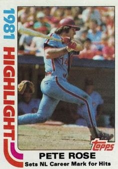 1981 Topps Pete Rose Philadelphia Phillies Baseball Card