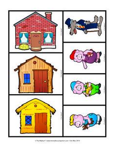 Three Little Pigs Sequencing Cards Preschool Literacy, Preschool Printables, Preschool Lessons, In Kindergarten, Sequencing Cards, Story Sequencing, Three Little Pigs Story, Fairy Tale Activities, Traditional Tales