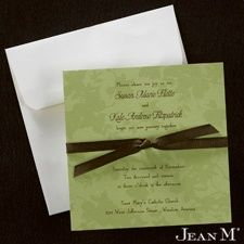 Green Leaves - Invitation