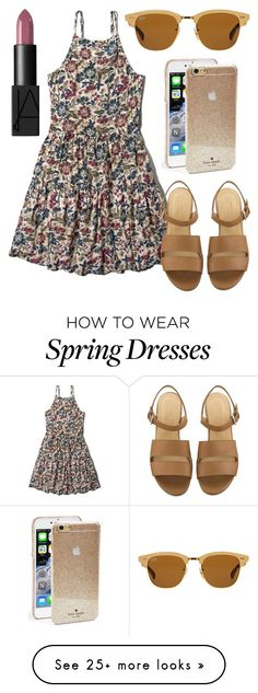 """""""Ready for Spring"""" by kk-purpleprincess on Polyvore featuring Abercrombie & Fitch, Ray-Ban, Kate Spade, NARS Cosmetics, women's clothing, women's fashion, women, female, woman and misses"""