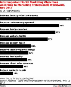 Most Important Social Marketing Objectives According to Marketing Professionals Worldwide, Nov 2013