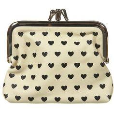 heart clasp coin purse $12