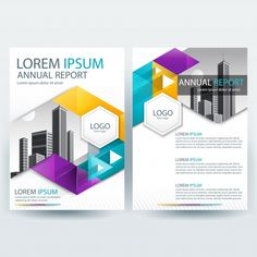 Business brochure template with Geometric shapes Free Vector Design Poster, Flyer Design, Layout Design, Web Design, Logo Design, Graphic Design, Business Brochure, Business Card Design, Brochure Design