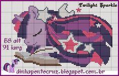 MLP Twilight Sparkle pattern by Dinha Ponto Cruz Cross Stitch Horse, Beaded Cross Stitch, Cross Stitch Charts, Cross Stitch Embroidery, Cross Stitch Patterns, Twilight Sparkle, Mlp Twilight, My Little Pony Unicorn, My Little Pony Twilight