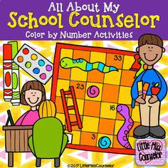 All About My School Counselor: Color by Number Activities Get out your crayons and learn all about the school counselor! This product includes: Directions Spinner My School Counselor Is___________ Coloring Sheet Color Elementary School Counselor, School Counseling, Elementary Schools, Number Activities, Educational Activities, Core Curriculum, I School, School Ideas, Teacher Blogs