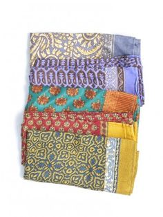 Sari scarves ~ all of which are different & authentic to the saris worn in India. #MataTraders #fairtrade