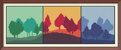 Forest Abstract Modern Counted Cross Stitch Pattern PDF Chart Instant Download…