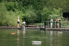 Hampstead Heath Swimming Ponds - the best place for a free swim in this heat. The ladies' pond is my new fav.