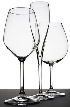 "Myriad ""grape-specific"" glass shapes are available for the wine nerd, but you really only need these three styles."