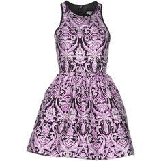 Manoush Short Dress (£180) ❤ liked on Polyvore featuring dresses, vestidos, short dresses, vestiti, lilac, mini dress, colorful cocktail dress, colorful dresses and lilac purple dress