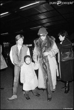 Romy Schneider, en famille son fils david et sa fille sarah