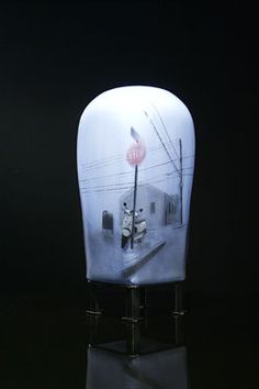 """Hyunsung Cho """"Before It's Too Late""""  Blown, etched  painted #Glass, metal #KoreanVision #Patrajdas"""