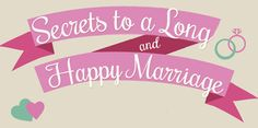 Secrets to a long and happy marriage.