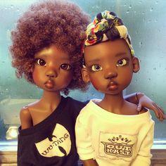 Nala and Lana, dolls by Kaye Wiggs